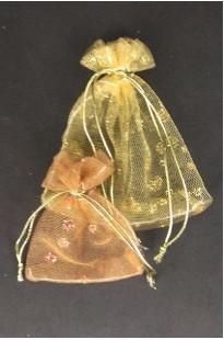Мешочки из сеточки с люрексом