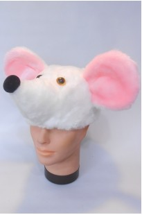 Шапочка Мышка белая